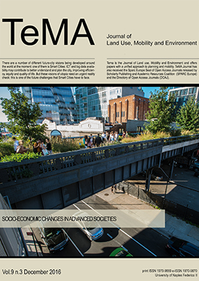 Vol 9, N° 3 (2016): Planning for livable and safe cities: Socio-economic changes in advanced societies
